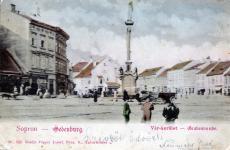 Korabeli képeslap a Várkerületről