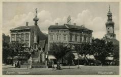 Várkerületi részlet a Mária-szobornál 1930 körül