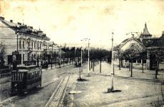 Villamoskocsi a Kossuth utcában