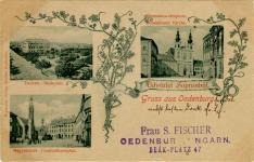 Virágdíszes üdvözlet Sopronból