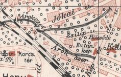 Térkép melléklet alapján, Sopron és a magyar Alpok, 1911