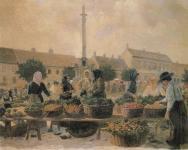 Kokál Károly: Piactér a Várkerületen