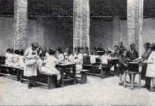 Ebéd az udvaron (illusztráció a Sopron anno archívumából.)