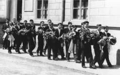 A IV.A osztály ballagása 1958-ban