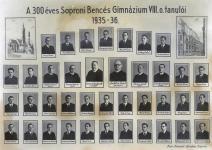 A 300 éves Bencés Gimnázium tablója 1936-ban
