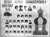 A József Attila Szakközépiskola 1987-ben végzett IV. B osztályának tablója
