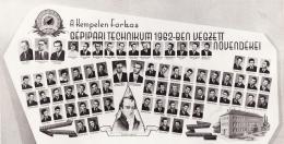 A Gépipari Technikum 1962-ben végzett növendékei