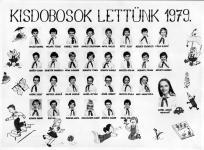 """A Lackner Kristóf Általános Iskola """"Kisdobosok lettünk"""" tablója 1979-ből"""