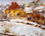 Mende Gusztáv: Ikvapart télen
