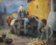 Mende Gusztáv: Szüreti kocsi