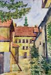 Soproni udvar a Tűztoronnyal
