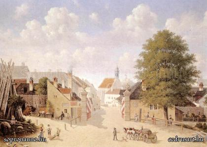 A Bécsi-kapu Hauser Károly festményén