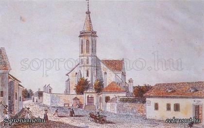 A Szent Mihály - templom 1850 körül