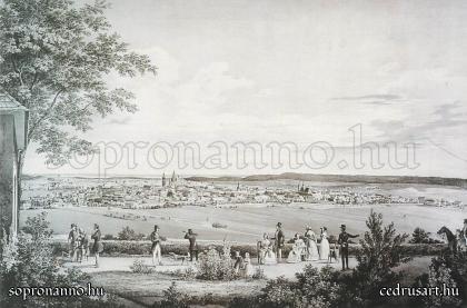 Sopron látképe 1841-ben