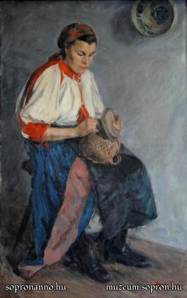 Mende Gusztáv: Paci székely viseletben