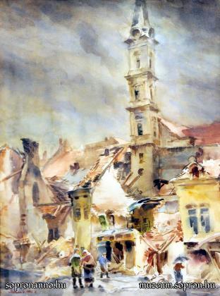 Mende Gusztáv: Sopron Várkerület 1945