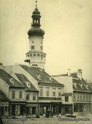 A Várkerület és az Előkapu találkozása a 19. század második felében
