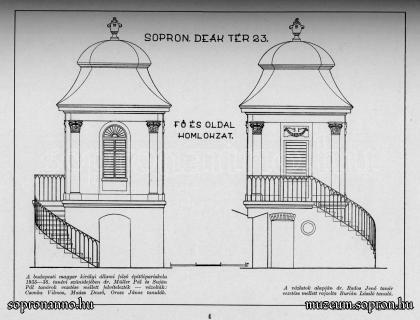 A Pázmány Péter utcai/Deák téri kerti lak 1928/29-ben