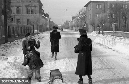Csengery utca - 1942. Fotó: Klausz Emil