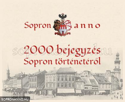 2000 bejegyzés a Sopron anno-n