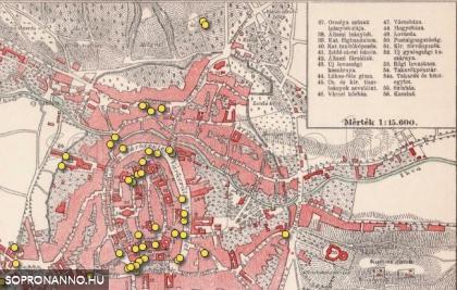 Térképes megjelenítés a Sopron anno-n