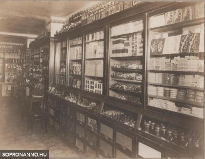 Horváth József üzlete 1929-ben