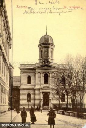 A neológ zsinagóga a Templom utcában