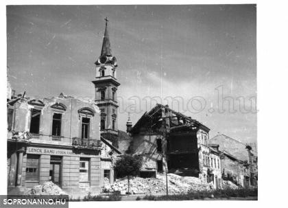 A Várkerület bombázás után