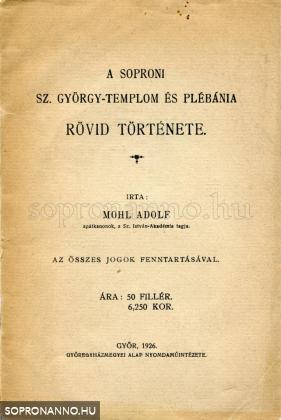 A soproni sz.György-templom és plébánia rövid története