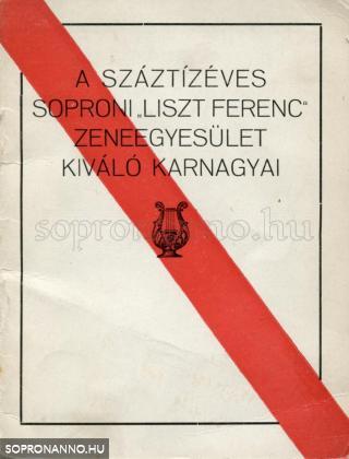 """A száztízéves """"Liszt Ferenc"""" Zeneegyesület kiváló karnagyai"""