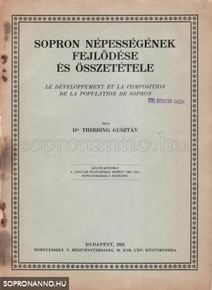 Sopron népességének fejlődése és összetétele