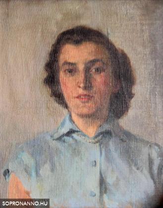 Mende Gusztáv: Fiatal nő portréja