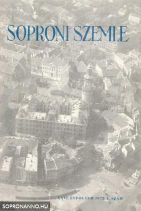 Soproni Szemle 1972. XXVI. évfolyam 1. szám