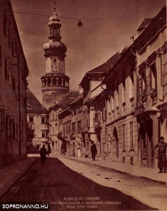 A Kolostor utca a Tűztoronnyal