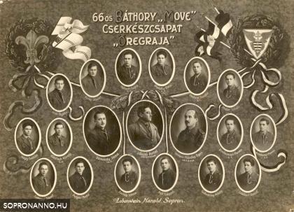 A 66. Báthory Cserkészcsapat tablója