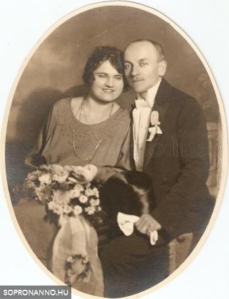 Tiewald Gusztáv és felesége