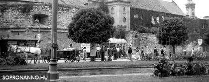 A Bástya tér 1957-ben - képkivágás