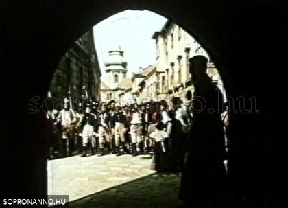 A császár parancsára című film forgatása - egy jelenet