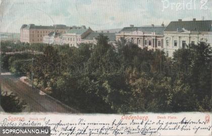 A Deák tér déli oldala 1900 körül