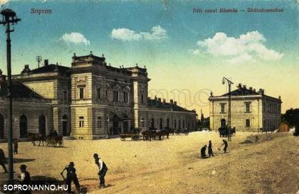 A Déli vasút állomása 1902 körül