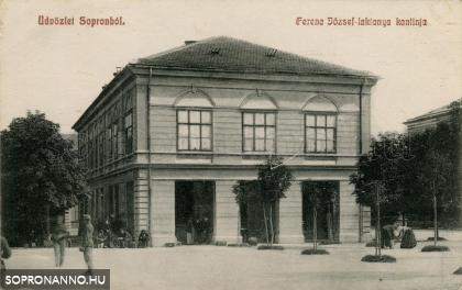 A Ferenc József gyalogsági laktanya kantinja