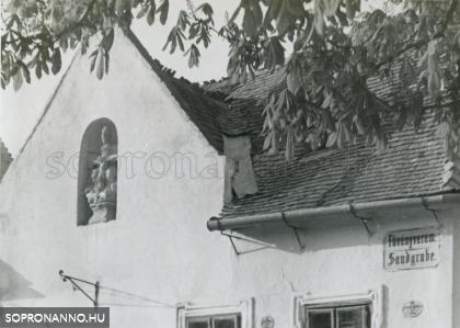 A Poncichter-ház egy részlete 1937-ben