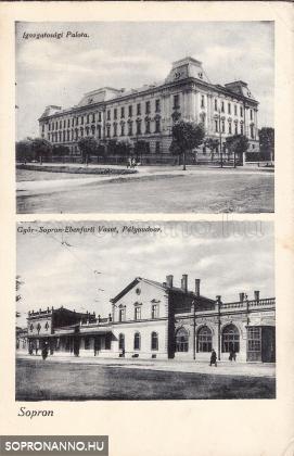 A Győri vasút épületei