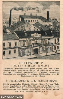 A Hillebrand cég reklámja 1922-ből