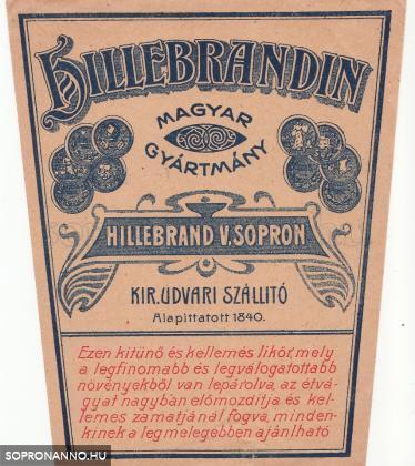 A Hillebrandin címkéje