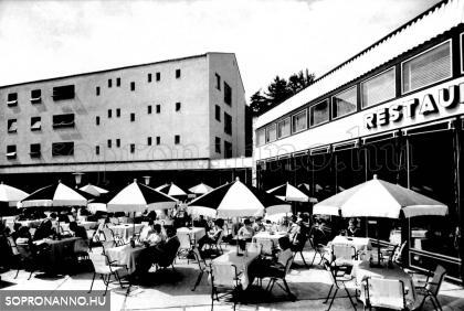 A Hotel Fenyves terasza