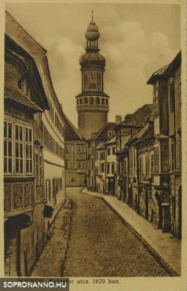 A Kolostor utca 1870-ben
