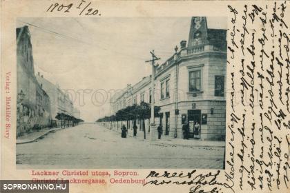 A Lackner Kristóf utca az 1900-as évek elején
