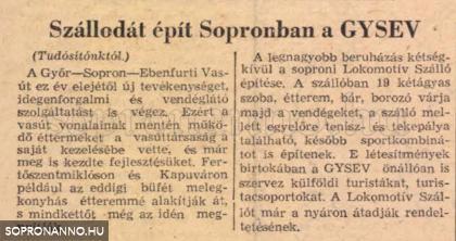 Újságcikk a Népszabadság 1973. június 12-i számából