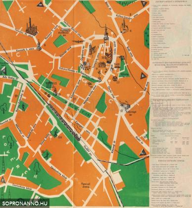 Soproni térképrészlet